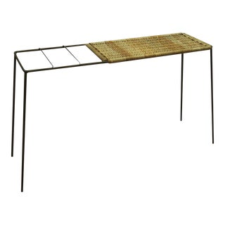 Vintage umbrella stand and console table by Carl Auböck For Sale