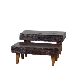 Live Edge Tree Root Table Set - a Pair