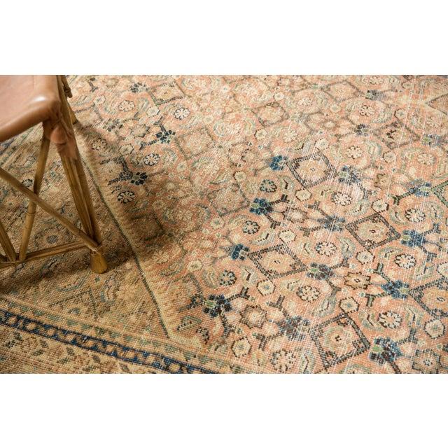 "Vintage Distressed Mahal Carpet - 9'9"" X 12'8"" For Sale - Image 11 of 13"