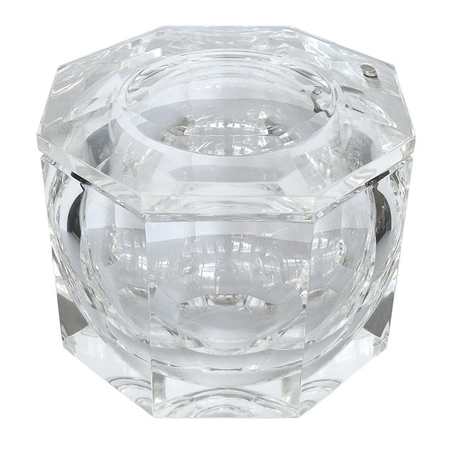 Lucite Ice Bucket by Alessando Albrizzi For Sale