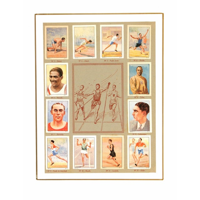 French Vintage Track & Field Print, C. 1935 For Sale - Image 3 of 3