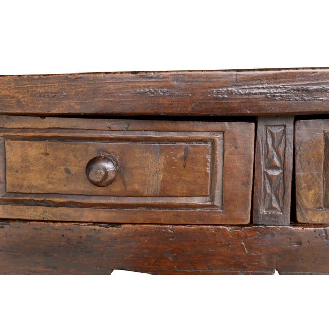 Early 18th Century Spanish Baroque Walnut Table For Sale - Image 5 of 10