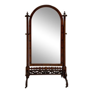 French Empire Cheval Mirror, Circa 1825 For Sale