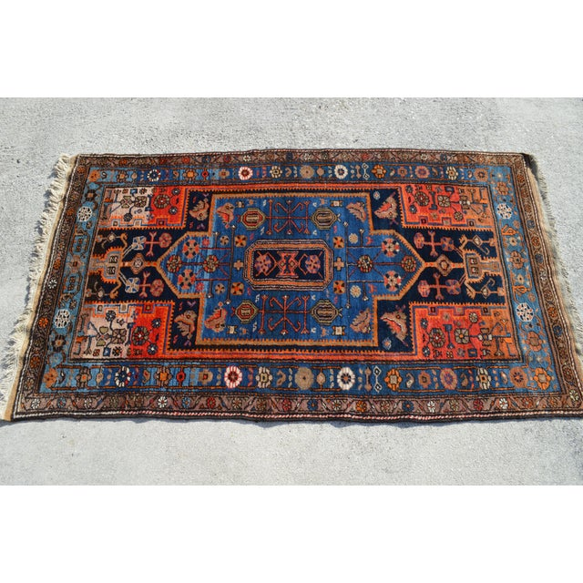 "Vintage Persian Tribal Rug - 4'3"" X 7'4"" - Image 3 of 4"