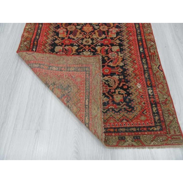 Antique Distresssed Small Persian Malayer Rug - 3′3″ × 5′9″ For Sale In Los Angeles - Image 6 of 6