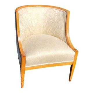 Antique Biedermeier Barrel Form Club Chair