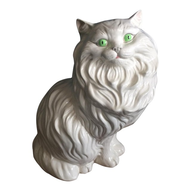 White Ceramic Cat - Image 1 of 8