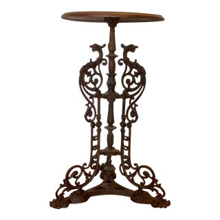 Cast Iron Iron Garden Stand / Table For Sale