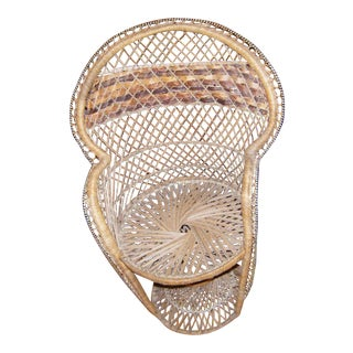 Wicker Fan Back Peacock Child's Chair
