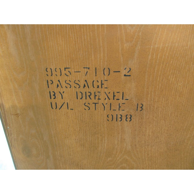 Drexel Heritage Campaign Style Lighted Display Case For Sale - Image 5 of 7