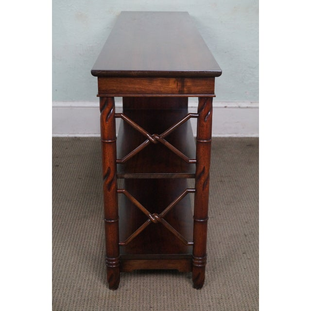 Traditional Custom Quality Mahogany Console Etagere For Sale - Image 3 of 10