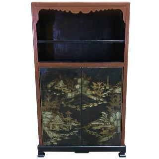 Chinese Ming Style Lacquered Bookcase or Cabinet