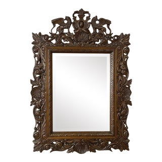 Antique Italian Renaissance Carved Wall Mirror For Sale