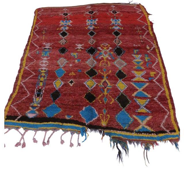 Berber Tribes of Morocco Vintage Berber Moroccan Rug For Sale - Image 4 of 4