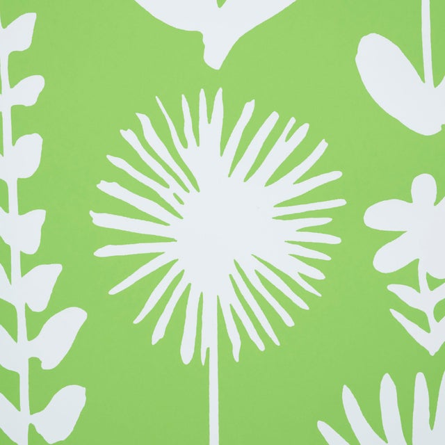 Contemporary Schumacher X Vera Neumann Wild Things Wallpaper in Leaf For Sale - Image 3 of 5