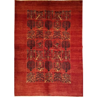Persian Shiraz Kashkuli Rug - 5′4″ × 7′6″ For Sale