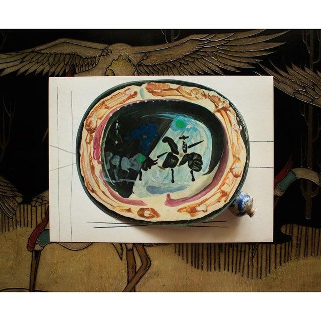 Pablo Picasso 1955 Pablo Picasso, Picador and a Bull Ceramics Plate, Original Period Swiss Lithograph For Sale - Image 4 of 6