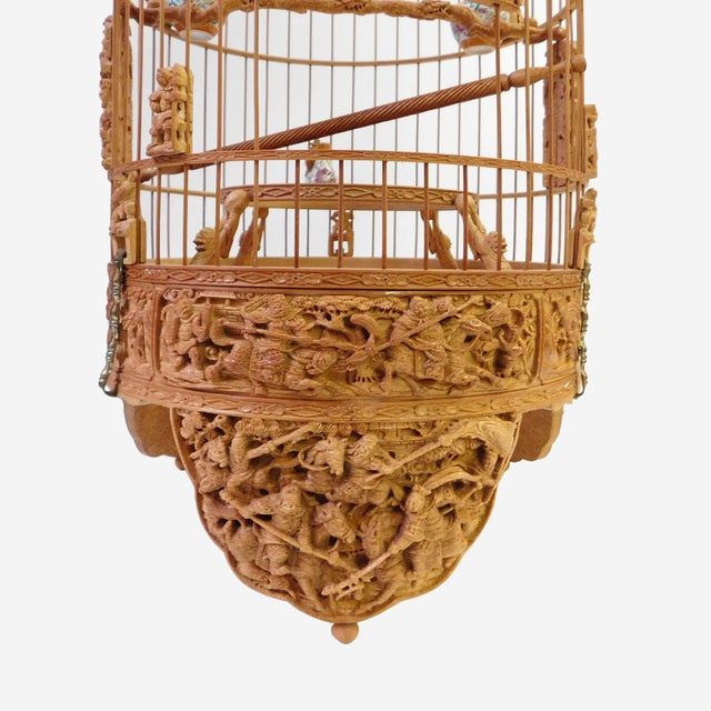 Bamboo Warfield Carving Birdcage - Image 2 of 10