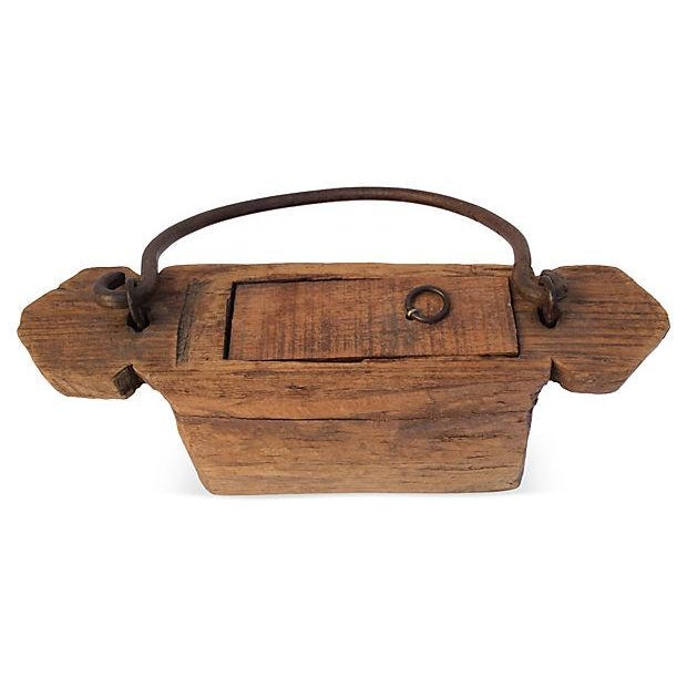 Asian Rustic Chinese Carved Wood Box For Sale - Image 3 of 6