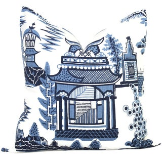 "20"" x 20"" Nanjing Schumacher Decorative Pillow Cover"