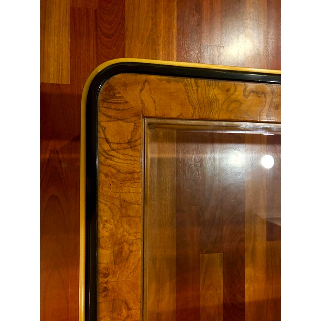 Glass 1980s Chinoiserie Drexel Heritage Coffee Table For Sale - Image 7 of 11