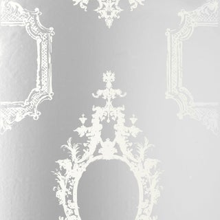 Schumacher Go Baroque Wallpaper in Mirror For Sale