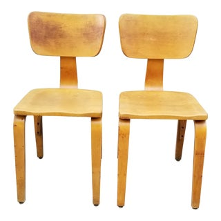 1950s Mid Century Modern Bentwood Thonet Chairs - a Pair