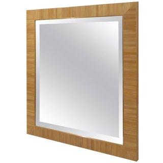 Custom Straw Marquetry Mirror For Sale