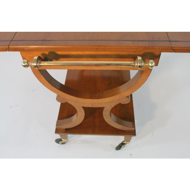 Kaplan Furniture Beacon Hill Serving Cart For Sale - Image 4 of 5