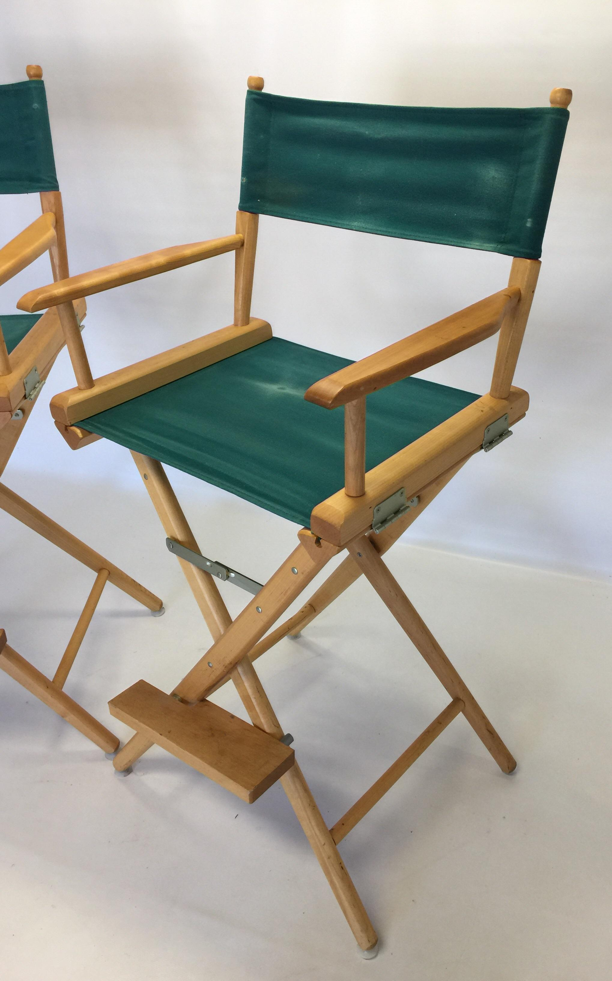 This Listing Is For Only 2 Vintage Telescope Directors Style Bar Stools. I  Have 2
