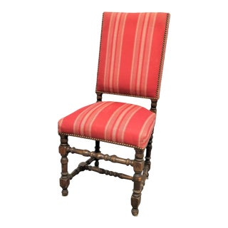 William & Mary Style Walnut Side Chair For Sale