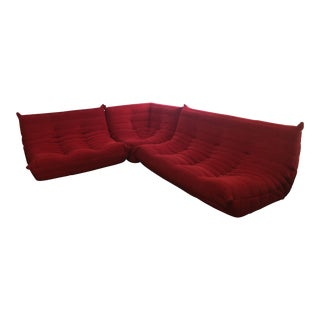 1970s Vintage Ligne Roset Togo Style Sectional For Sale