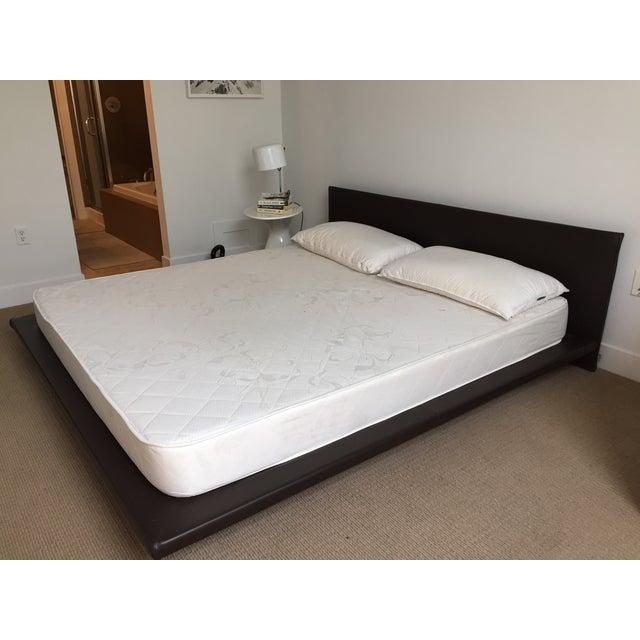 King Size Leather Platform Bed - Image 3 of 9