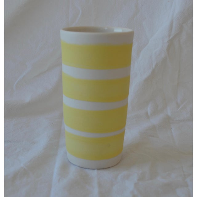 Contemporary Ceramic Multi Striped Cylindrical Vessels - Group of 5 For Sale - Image 11 of 13