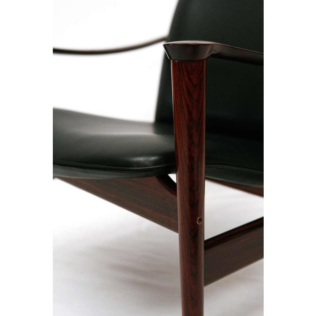 1960s Frederik Kayser Rosewood Lounge Chair For Sale - Image 5 of 10