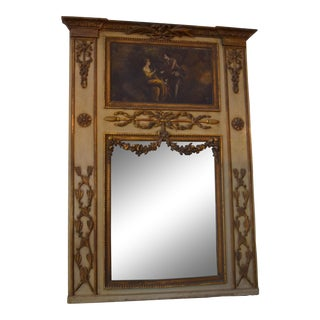 Mid 19th-Century French Trumeau Mirror For Sale