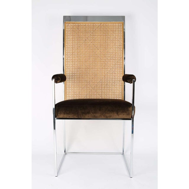 1970s Six High Back Cane Dining Chairs by Milo Baughman for Thayer Coggin For Sale - Image 5 of 11