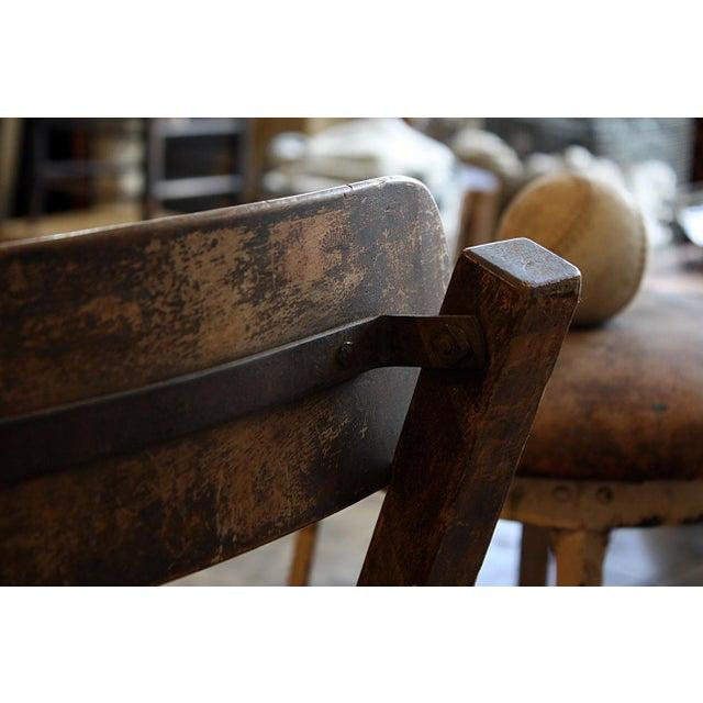 Wood Stool With Hinged Backrest - Image 4 of 4