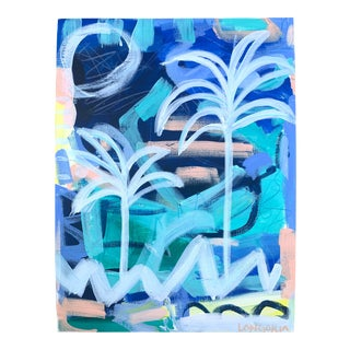 """""""Palms #7"""" Abstract Painting by Christina Longoria For Sale"""