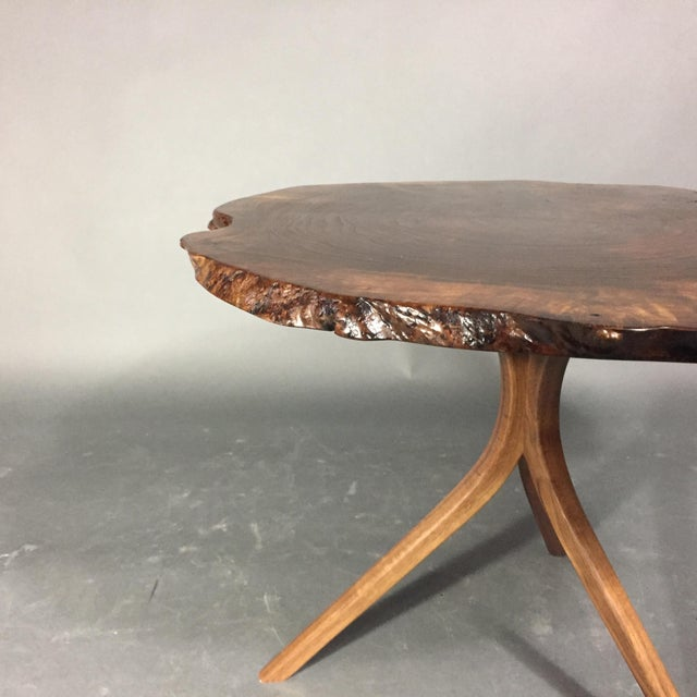 Wood Daniel Oates Live-Edge Claro Walnut Coffee Table For Sale - Image 7 of 13