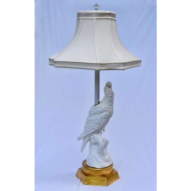 Mid 20th Century Blanc De Chine Cockatoo Table Lamp For Sale - Image 5 of 11