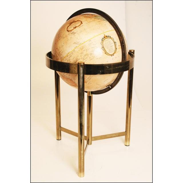 Mid-Century Modern Replogle World Globe W Brass Stand - Image 2 of 11