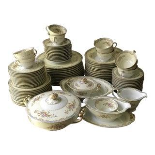1933 M Nortika Naomi China Dinnerware Set of 95 Pieces For Sale