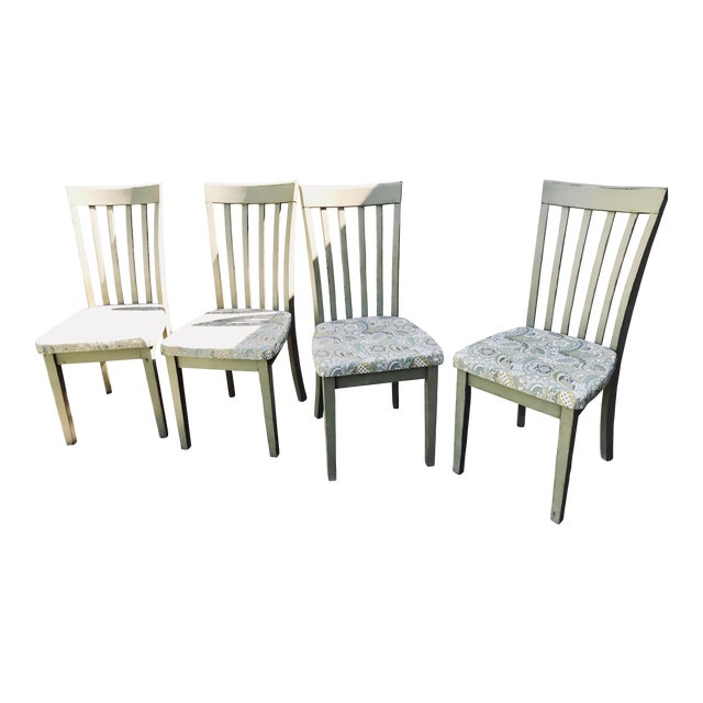Cottage/Country Style Chateau Gray Chalk Paint Chairs - Set of 4 For Sale