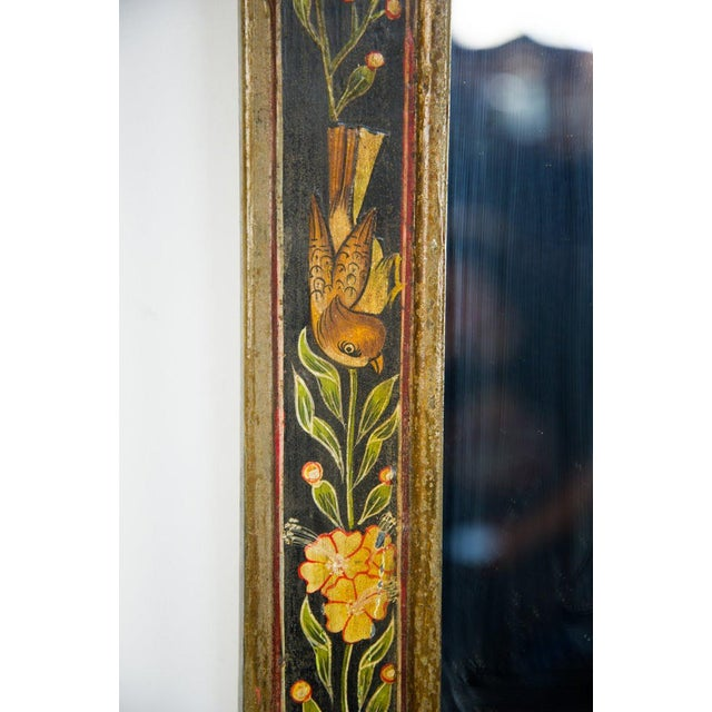 Victorian Style Hand Painted Wall Mirror For Sale - Image 4 of 9