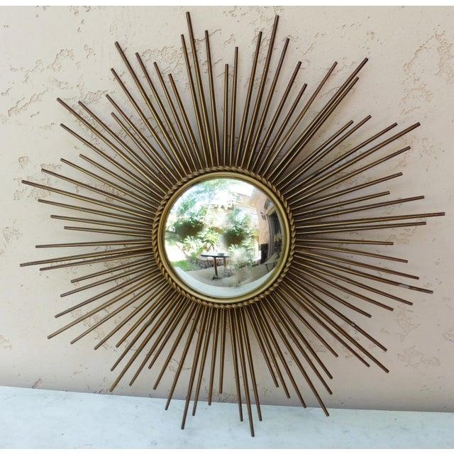 Chaty Vallauris Sunburst Convex Metal Mirror - Image 2 of 4