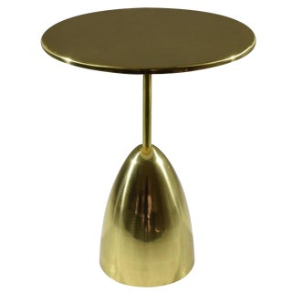 Contemporary Brass Table, Flow Collection by Jonathan Amar For Sale