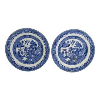 Blue Willow Dessert Plates - A Pair