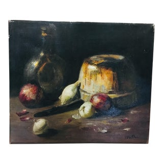 Spanish Revival Mid Century Still Life Oil on Canvas Painting For Sale