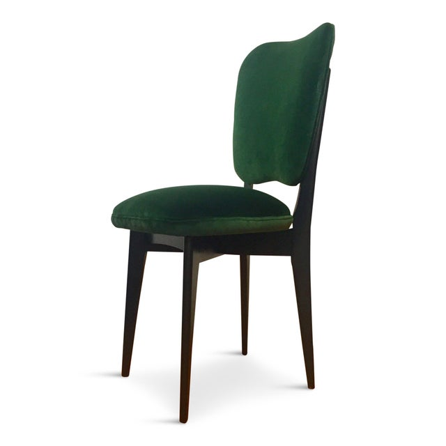 Mid-Century Modern 1960s Mid-Century Modern Green Upholstered Dining Chairs - Set of 6 For Sale - Image 3 of 8